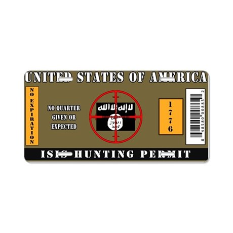 Isis hunting permit aluminum license plate by admin cp25679220 for Colorado one day fishing license
