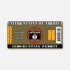 ISIS Hunting Permit Aluminum License Plate