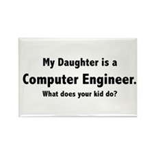 Computer Engineer Daughter Rectangle Magnet