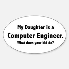 Computer Engineer Daughter Oval Decal
