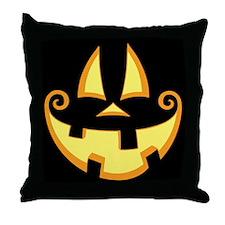 Jack-o-Face Throw Pillow