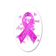 Survivor Love Hope Cure Wall Decal