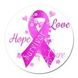 Breast cancer survivor Round Car Magnets