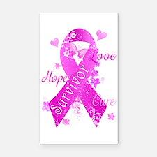 Survivor Love Hope Cure Rectangle Car Magnet