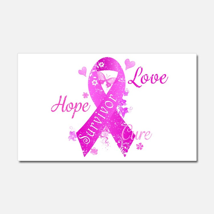 Survivor Love Hope Cure Car Magnet 20 x 12