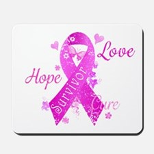 Survivor Love Hope Cure Mousepad