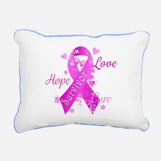 Survivor Love Hope Cure Rectangular Canvas Pillow