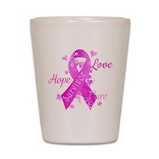 Survivor Love Hope Cure Shot Glass