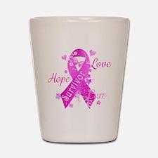 Survivor Love Hope Cure Shot Glass