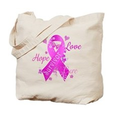 Survivor Love Hope Cure Tote Bag