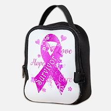 Survivor Love Hope Cure Neoprene Lunch Bag