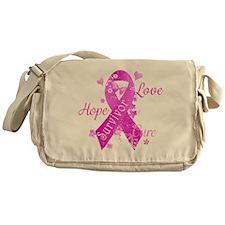 Survivor Love Hope Cure Messenger Bag