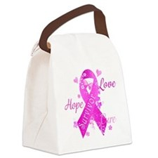 Survivor Love Hope Cure Canvas Lunch Bag