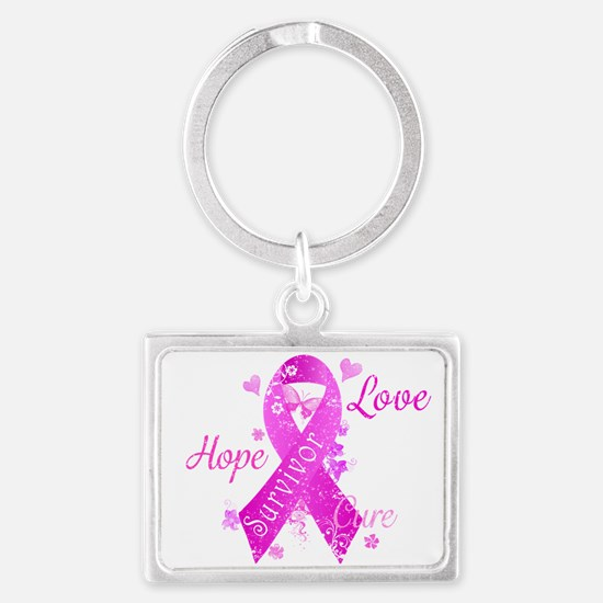 Survivor Love Hope Cure Landscape Keychain