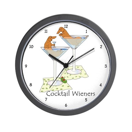 Cocktail Wieners (red) Wall Clock