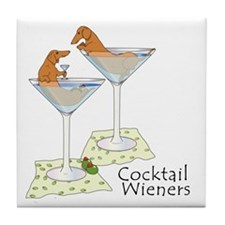 Cocktail Wieners (red) Tile Coaster