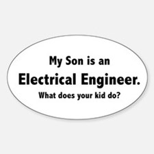 Electrical Engineer Son Oval Decal
