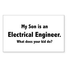 Electrical Engineer Son Rectangle Decal