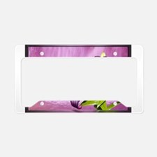 Lily With Waterfall in Purple License Plate Holder