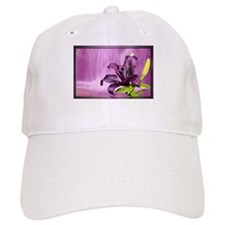 Lily With Waterfall in Purple Baseball Baseball Cap