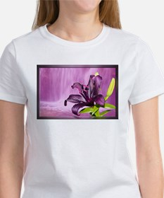 Lily With Waterfall in Purple T-Shirt