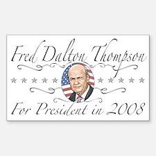 Fred Dalton Thompson Rectangle Decal