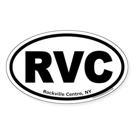 """Rockville Centre, NY """"RVC"""" Oval Sticker"""