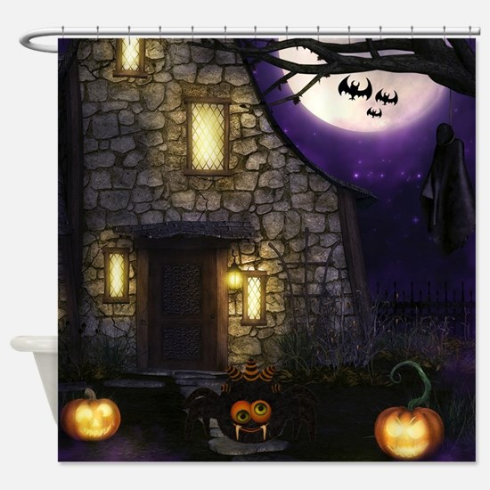 Spider Halloween Shower Curtain