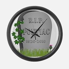 R.I.P. Pontiac Large Wall Clock