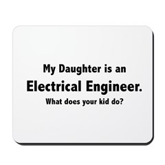 Electrical Engineer Daughter Mousepad