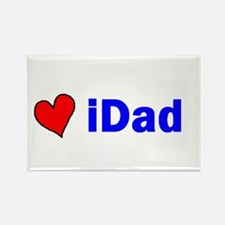 iDad (with a heart) Rectangle Magnet