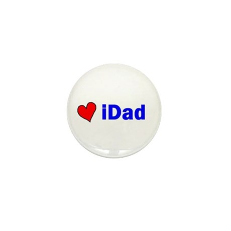 iDad (with a heart) Mini Button (10 pack)
