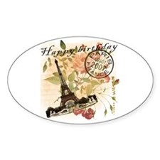 7.07 Birthday Vintage Oval Decal
