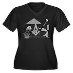 The Masonic Shop Logo Women's Plus Size V-Neck Dar