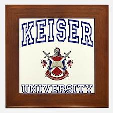 KEISER University Framed Tile