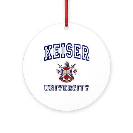 KEISER University Ornament (Round)