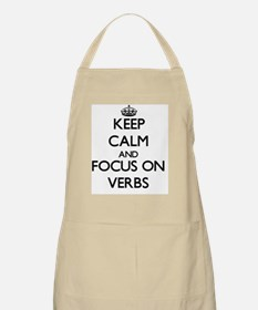 Keep Calm by focusing on Verbs Apron