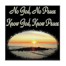 LOVE KNOWING GOD Tile Coaster