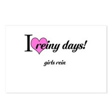 I love reiny days! Postcards (Package of 8)