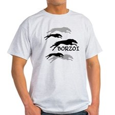 Many Borzois Running T-Shirt