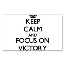 Keep Calm by focusing on Victory Decal