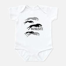Many Borzois Running Infant Bodysuit