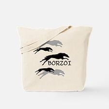 Many Borzois Running Tote Bag
