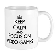Keep Calm by focusing on Video Games Mugs