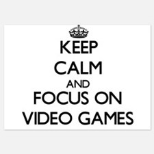 Keep Calm by focusing on Video Games Invitations
