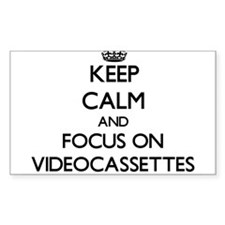 Keep Calm by focusing on Videocassettes Decal