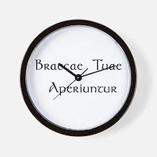"""Braccae"" Wall Clock"