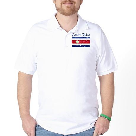 Costa rica Flag Golf Shirt