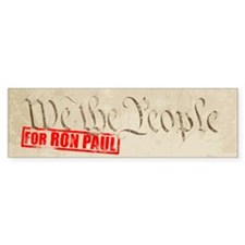 We The People for Ron Paul 2012 - Bumper Bumper Sticker