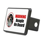 Beagle On Board Rectangular Hitch Cover